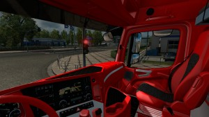 Red Interior for Mercedes Actros 2014