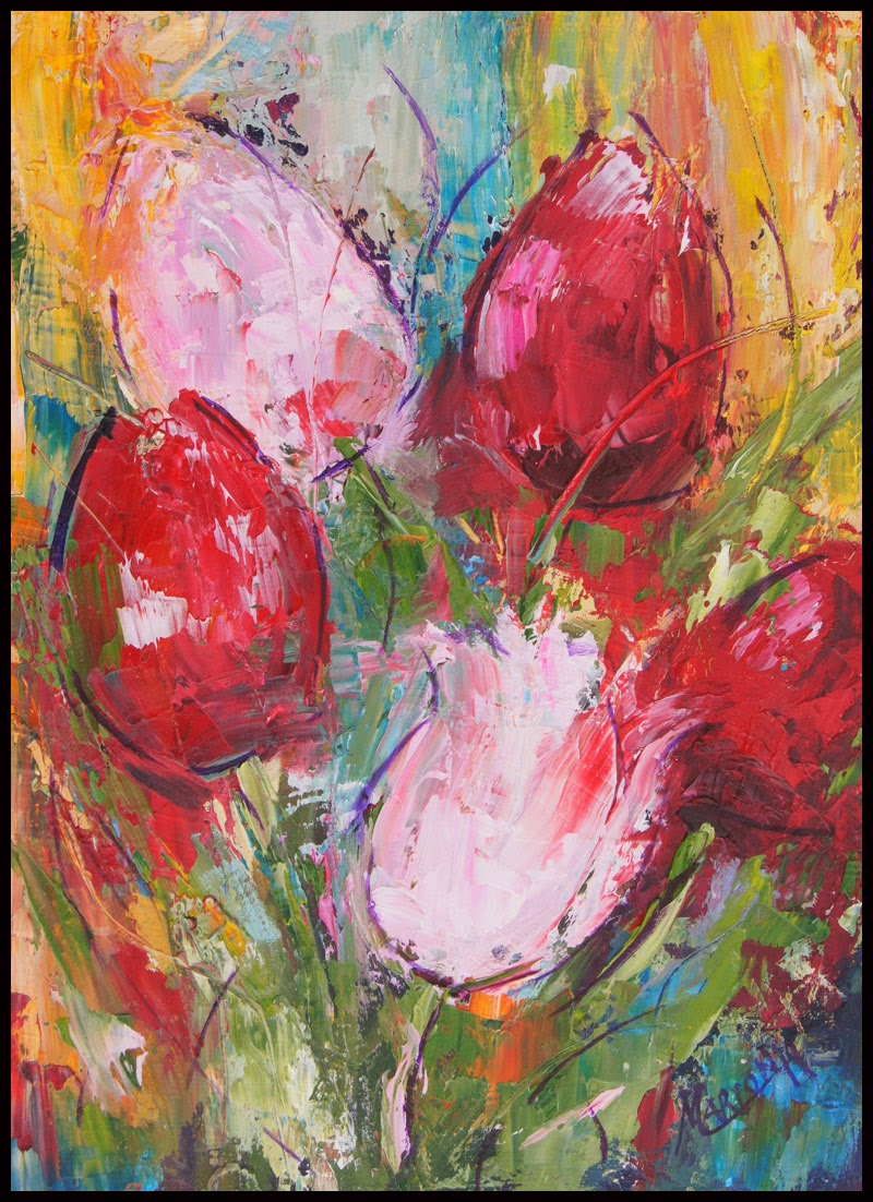 Floral Garden Impressionist Oil Paintings