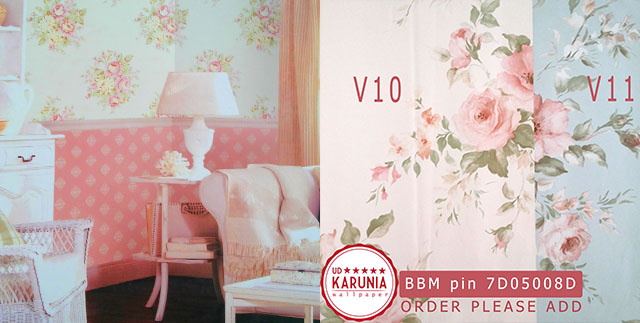 wallpaper rumah shabby chic