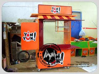 jasa produksi gerobak ayam goreng yamyuk