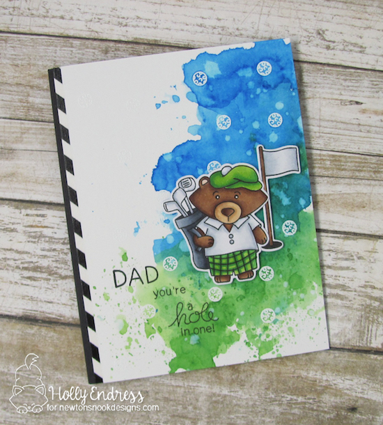 Golf Card by Holly Endress | Winston's Tee Time | Golfing Bear Stamp set by Newton's Nook Designs