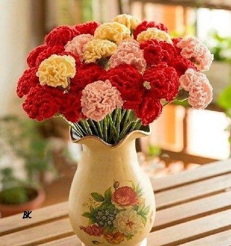 Crochet flower bouquet - Pattern - Crochet Yarn Online