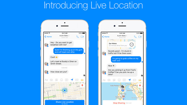 Facebook Messenger: LiveLocation locates friends in real time!