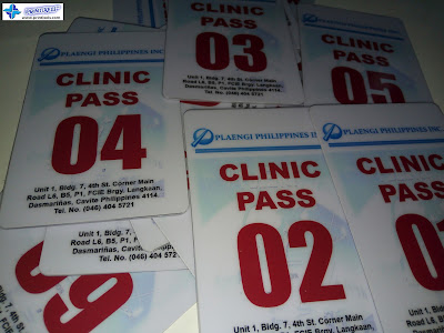 PVC Clinic Pass Cards for Plaengi Philippines, Inc.