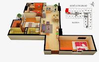 Thiết kế căn 1 tòa A chung cư Gemek Tower