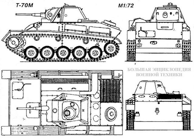 Общий вид легкого танка Т-70М