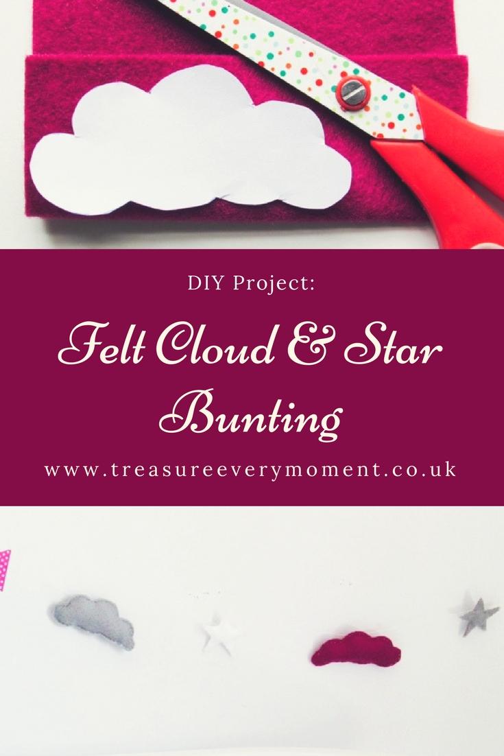 DIY PROJECT: Felt Cloud and Star Bunting Tutorial