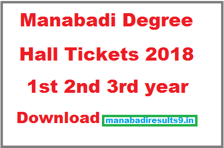 Download Degree Hall Tickets 2018 Manabadi, Manabadi Degree Hall Tickets 2018 Download
