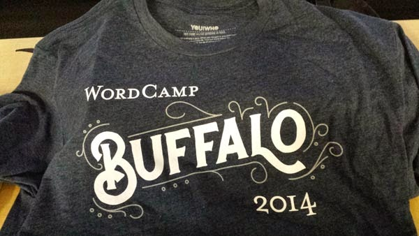 Photo of Buffalo WordCamp t-shirt.