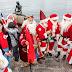 Santas across the world gathered in Copenhagen, Denmark on Monday