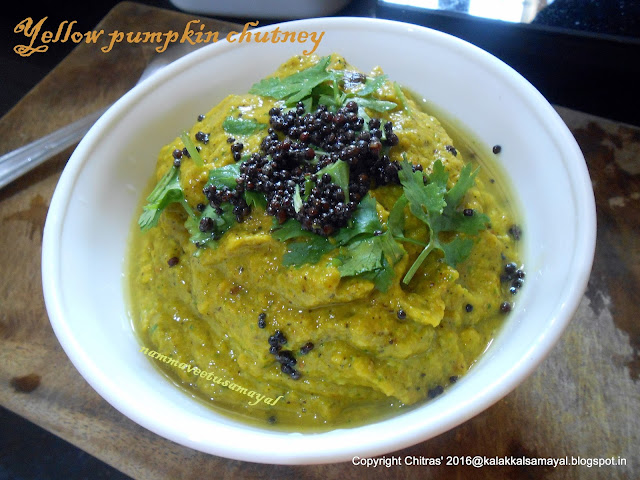 Parangikkai chutney [ yellow pumpkin chutney ]