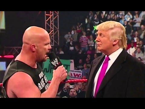 شاهدوا.. ستيف أوستن يعتدي على دونالد ترامب ويفقده وعيه أمام الجمهور هذا ما حصل لترامب