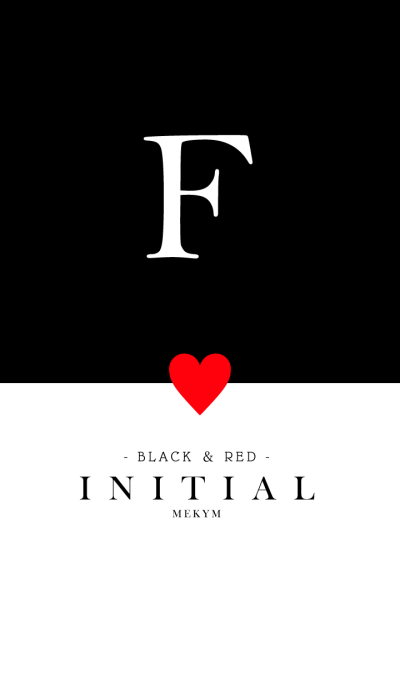 INITIAL F -BLACK&RED-