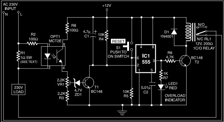 Overload Protection For Regulated Power Supply Circuit Diagram
