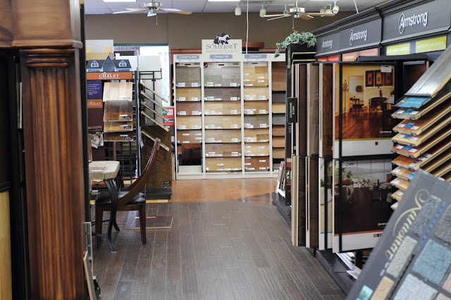 Kermans large hardwood flooring section