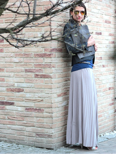 plisowana spódnica, spódnica maxi, blog po 30ce, streets tyle