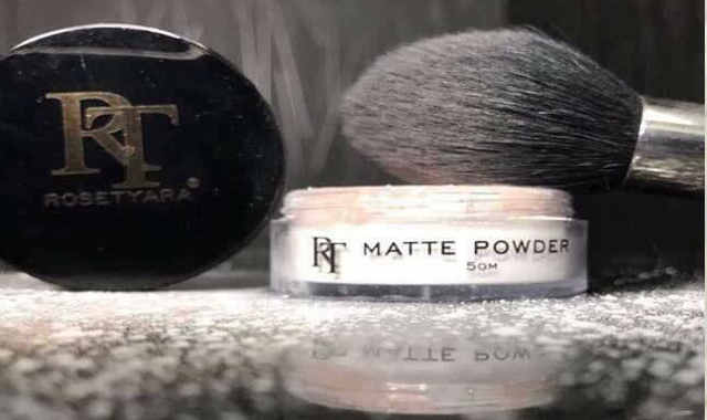 Loose Powder Rosetyara Jadi Pilihan Hati, matte powder rt