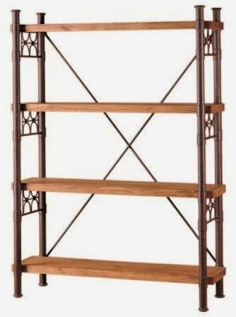 Estanteria madera rustica, estanteria forja rustica