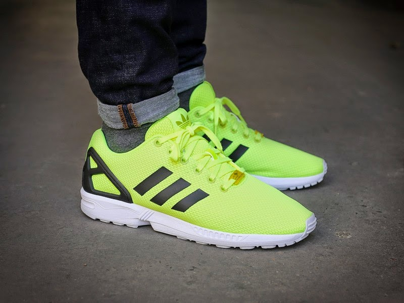 reputable site bfd51 440d7 adidas zx flux yellow