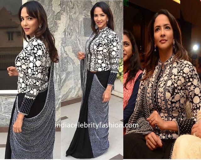 Lakshmi Manchu in Shasha Gaba Jacket Sari