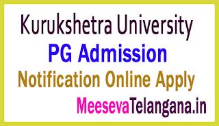 Kurukshetra University PG Admission Test  2019