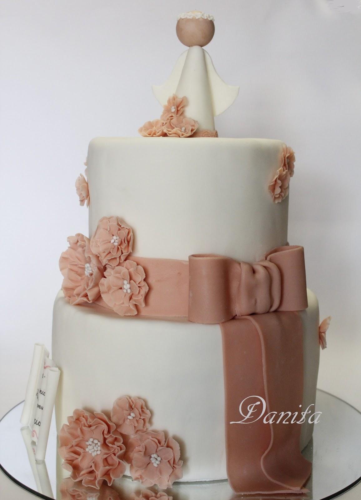 Super Le leccornie di Danita: Torta comunione per una bellissima bambina RT07