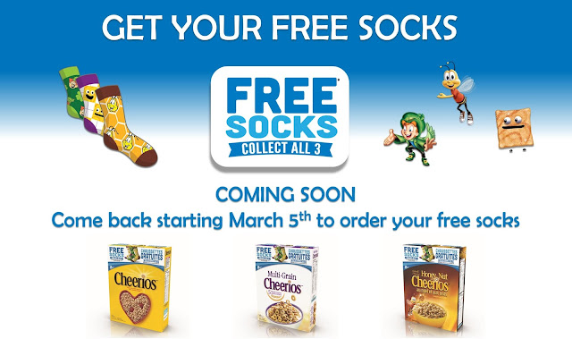 FREE Socks With General Mills Cereal Pin Codes