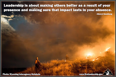 Leadership is about making others better as a result of your presence and making sure that impact last in your absence.–  Sheryl Sandberg