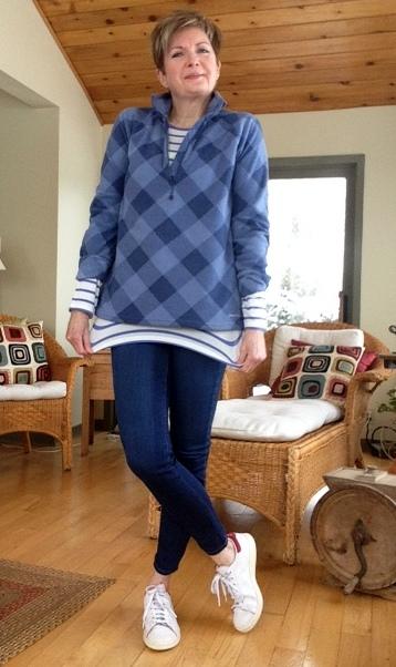 Massimo Dutti tee shirt, Eddie Bauer fleece, Paige high rise jeans,Stan Smith Adidas