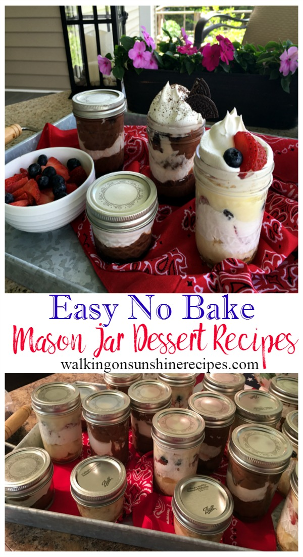 How to Make Delicious Easy No Bake Desserts in a Mason Jar from Walking on Sunshine Recipes