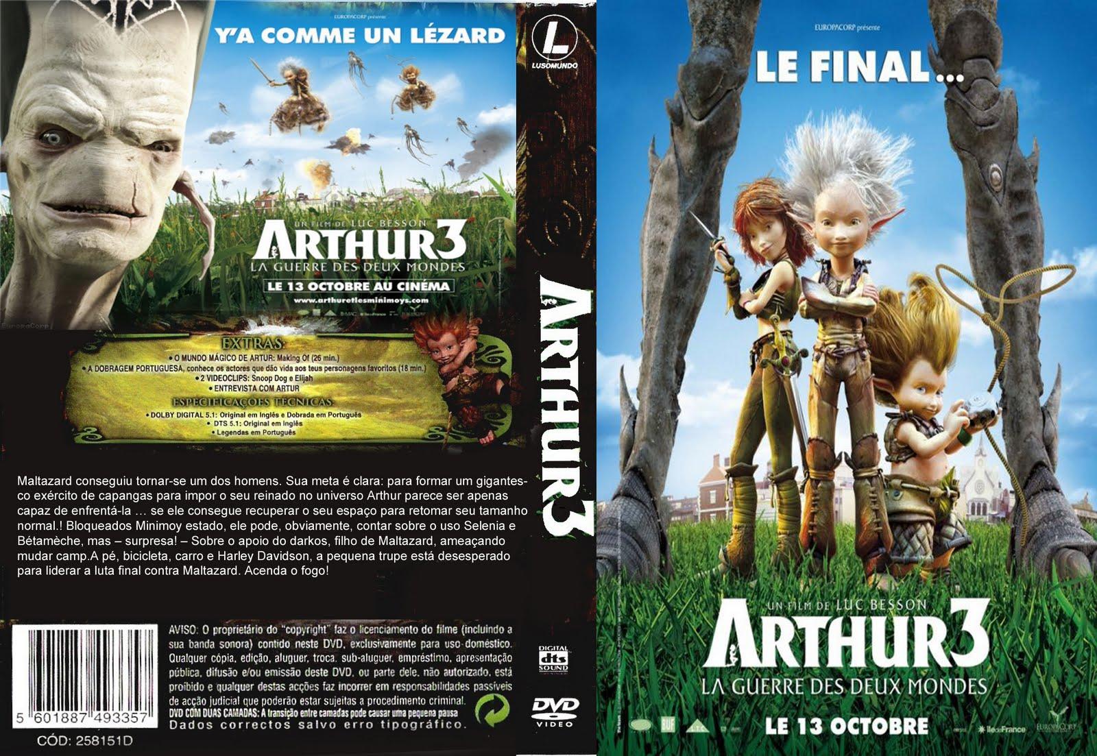 Capas Filmes Animacao Arthur 3 A Guerra Dos Dois Mundos