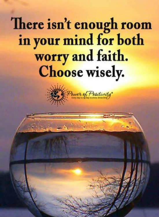 Worry Quotes There isn't enough room in your mind for both worry and faith  Worry Quotes