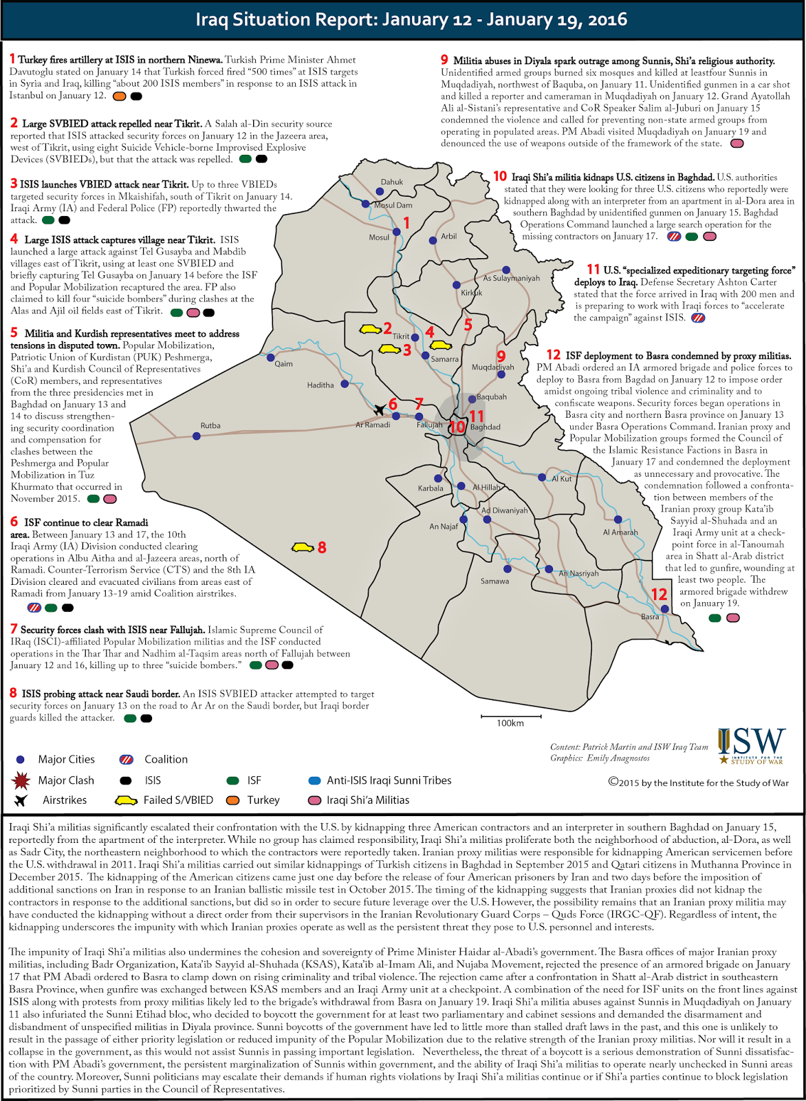 Iraq Situation Report: January 12 – 19, 2016 « CSS Blog Network