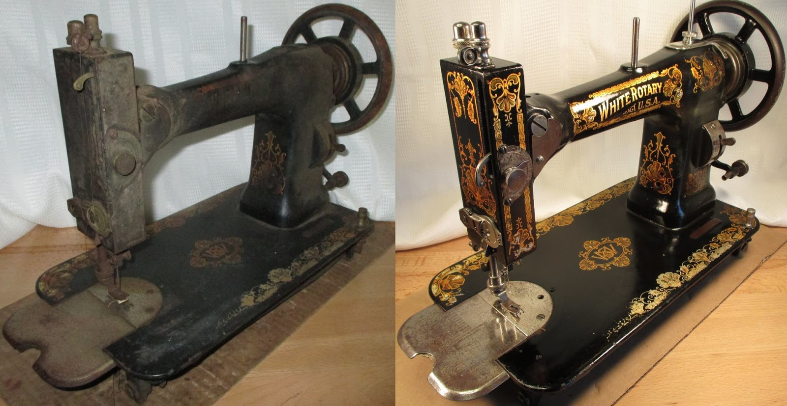 Grant Gray shows us a before and after vintage sewing machine.
