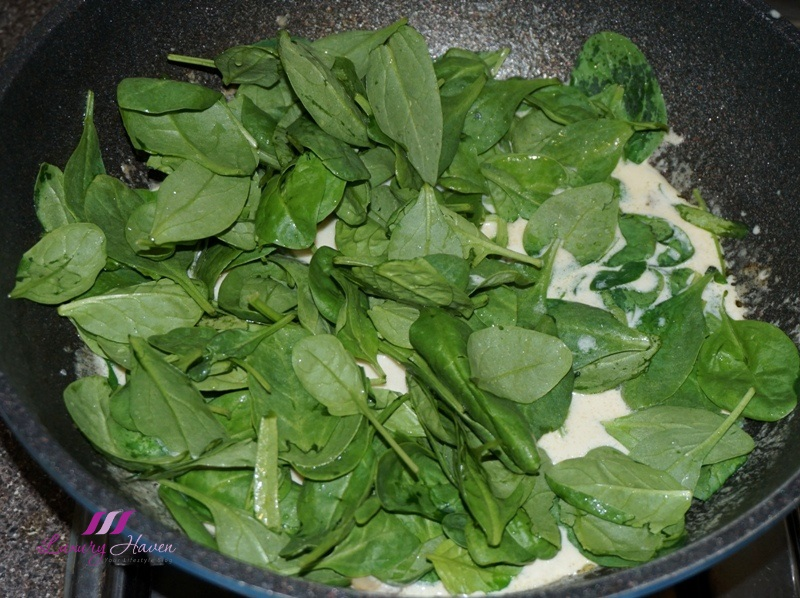 creamy foglia sublime baby spinach recipe