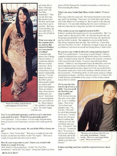 Aaliyah Archives Aaliyah Interview Black Beat Magazine 2001