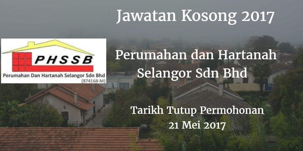 Jawatan Kosong Perumahan dan Hartanah Selangor Sdn Bhd 21 Mei 2017