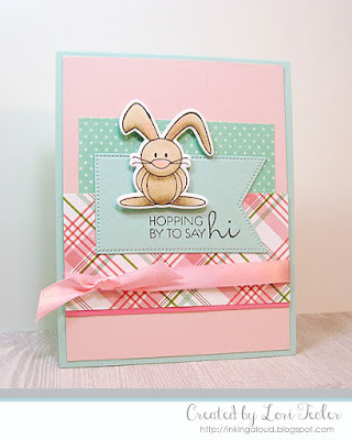Hopping by to Say Hi card-designed by Lori Tecler/Inking Aloud-stamps from Verve Stamps