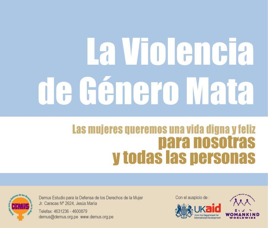 La violencia de genero mata