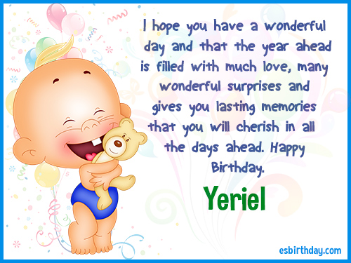 Yeriel Happy Birthday