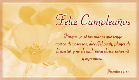 feliz cumpleaños jehovah
