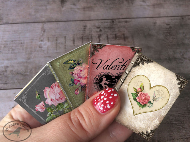 Valentine's Day Mini Book Tutorial from My Porch Prints