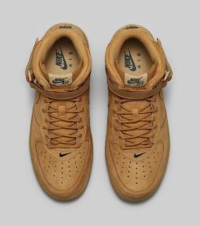 sepatu nike, sepatu nike air force 1, sepatu nike nike air force 1 brown, toko jual sepatu nike air force 1 high brown murah
