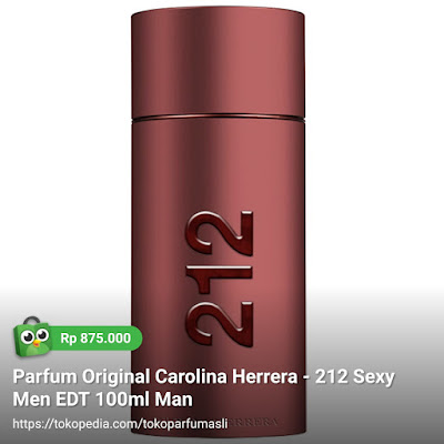 toko parfum asli parfum original carolina herrera 212 sexy men edt 100ml man