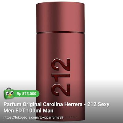 toko parfum asli parfum original carolina herrera 212 sexy men edt 100ml man