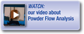 Watch our video about Powder Flow Analysis