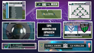 PES 2017 Scoreboard Copa Total Argentina 2018 v2 by Lupkas1234