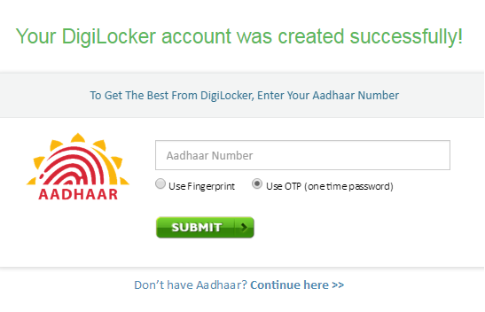 Digilocker aadhaar card number