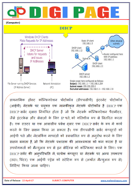 DP | DHCP | 22 - APR - 17 | IMPORTANT FOR SBI PO