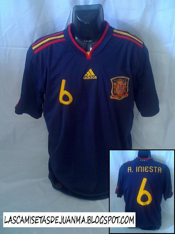 Mi colección de camisetas de fútbol: 2ª camiseta Selección ...